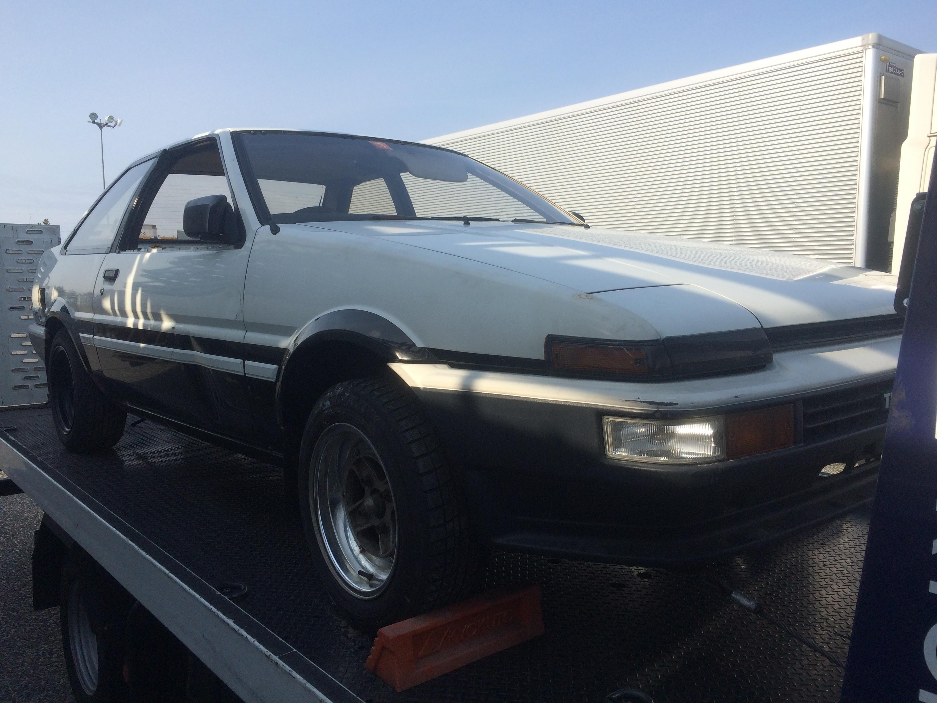 パーツ取り車買取情報 新潟にてAE86スプリンタートレノ2Dの買取