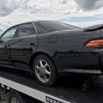 事故車 マークⅡ買取情報  新潟にて左サイド事故の90マークⅡを買取