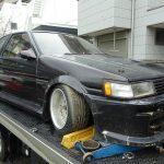不動車 買取情報 徳島にて不動車AE86レビンを買取