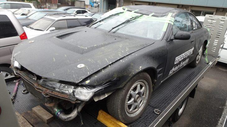 [事故現状車入庫情報]S14シルビアが入庫!