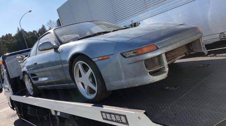 [不動車買取情報]茨城にて長期不動車のMR2を買取